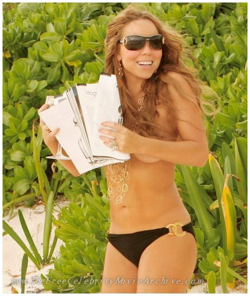 Mariah Carey topless 